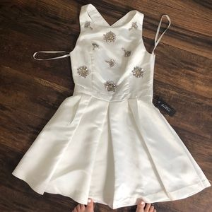 Ivory mini dress with beautiful beading
